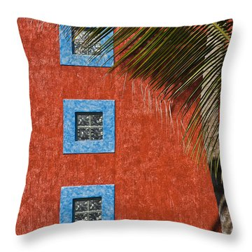 Three Windows Throw Pillow by Adam Romanowicz