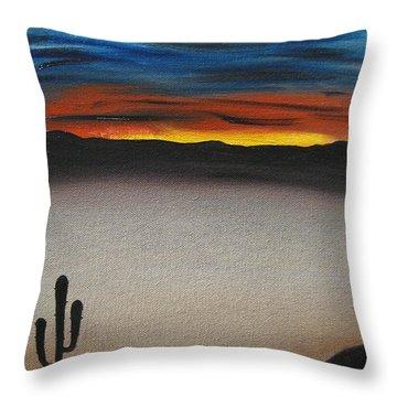 Thriving In The Desert Throw Pillow by Sayali Mahajan