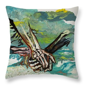 Through Storms Throw Pillow by Joseph Demaree