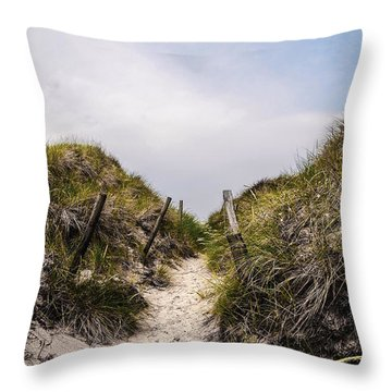 Through The Dunes Throw Pillow by Hannes Cmarits
