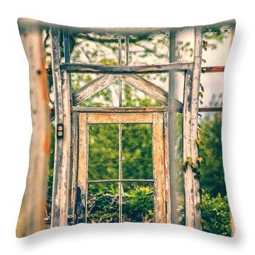 Thru Times Window Throw Pillow by Karol Livote