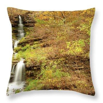 Thunder Falls Throw Pillow by Gregory Ballos