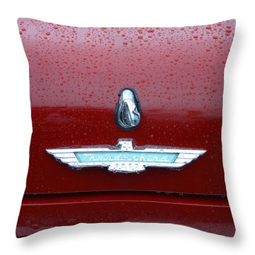 Thunderbird Squared Throw Pillow by Nina Fosdick