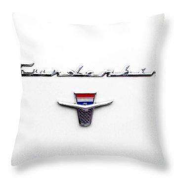 Thunderbird Tag Throw Pillow by Jerry Fornarotto