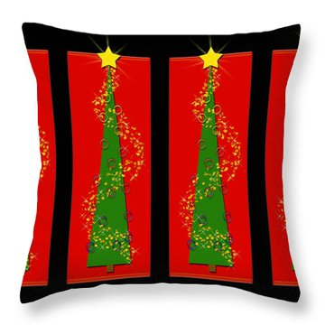 Tidings From Trees Throw Pillow by Lisa Knechtel