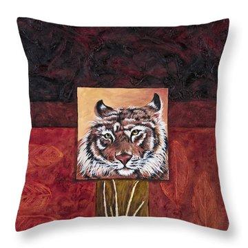 Tiger 2 Throw Pillow by Darice Machel McGuire