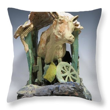 Tight Squeeze Throw Pillow by Jean Macaluso