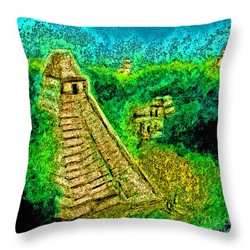 Tikal By Jrr Throw Pillow by First Star Art