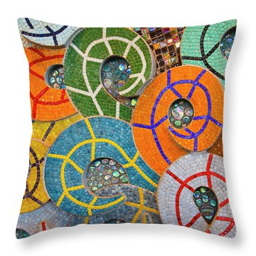 Tiled Swirls Throw Pillow by Adam Romanowicz
