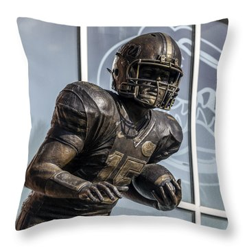 Tim Tebow Uf Heisman Winner Throw Pillow by Lynn Palmer