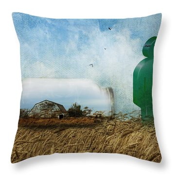 Time In A Bottle Throw Pillow by Terry Fleckney