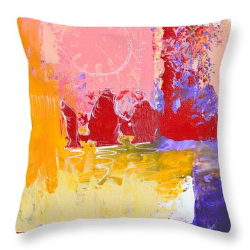Time Is Fading Away Throw Pillow by Donna Blackhall