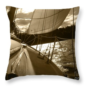 Time To Jibe  Throw Pillow by Kym Backland