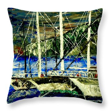 Time To Sail  Throw Pillow by Mark Moore