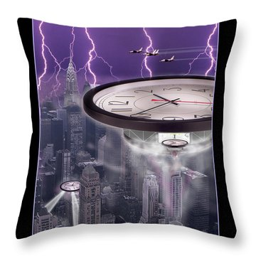 Time Travelers 2 Throw Pillow by Mike McGlothlen