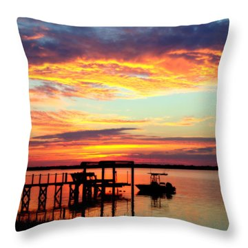 Time Waits For No One Throw Pillow by Karen Wiles
