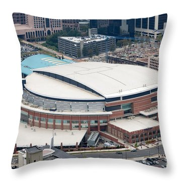 Time Warner Cable Arena Throw Pillow by Bill Cobb