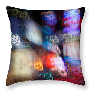 Times Square Throw Pillow by Dave Bowman