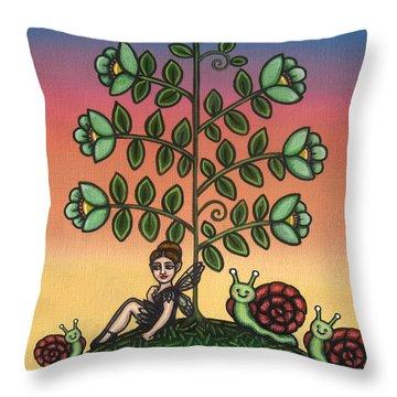 Tinas Family Throw Pillow by Victoria De Almeida