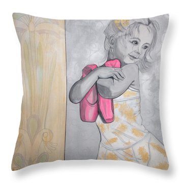 Tiny Dancer Throw Pillow by Darlene Graeser