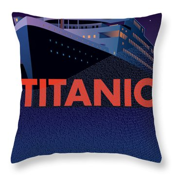 Titanic 100 Years Commemorative Throw Pillow by Leslie Alfred McGrath