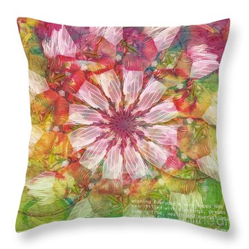 To Everyone Happy New Year Throw Pillow by Deborah Benoit