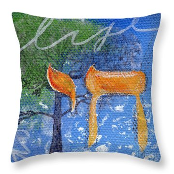 To Life Throw Pillow by Linda Woods