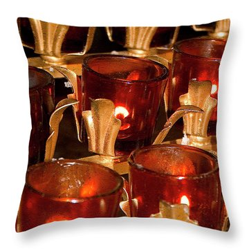 To Lite A Candle Throw Pillow by Karol Livote