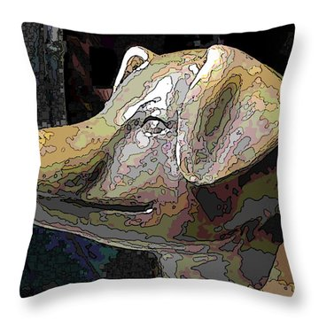 To Market We Go Throw Pillow by Tim Allen