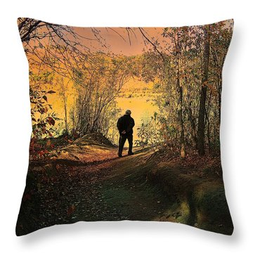 To The Fields Of Light Throw Pillow by Shirley Sirois