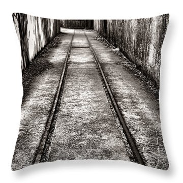 To The Nightmare Throw Pillow by Olivier Le Queinec