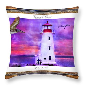 Together Throw Pillow by Betsy Knapp