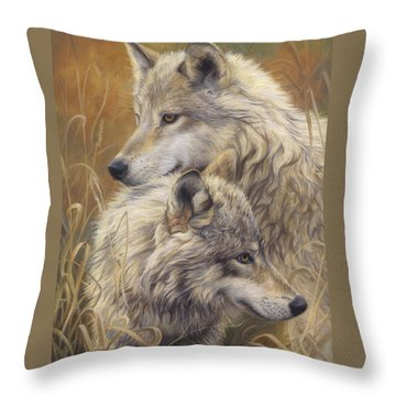 Together Throw Pillow by Lucie Bilodeau