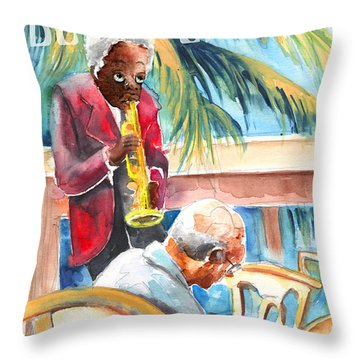Together Old In Prague Throw Pillow by Miki De Goodaboom