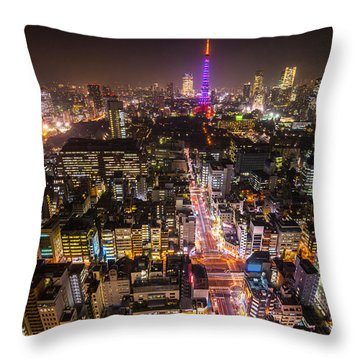 Tokyo Tower - Tokyo - Japan Throw Pillow by Luciano Mortula