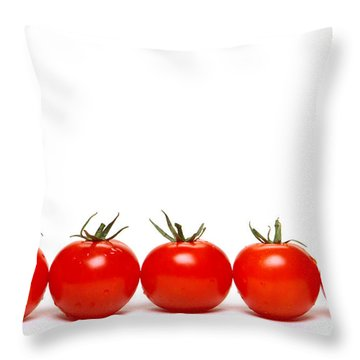 Tomatoes Throw Pillow by Olivier Le Queinec
