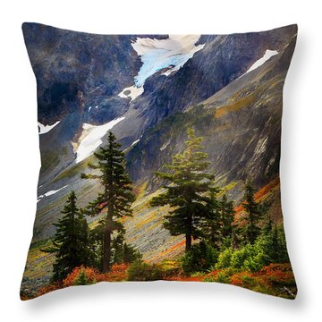 Top Of Cascade Pass Throw Pillow by Inge Johnsson