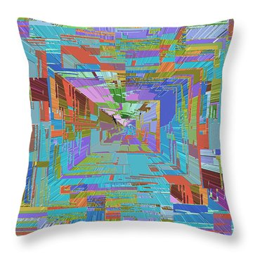 Topographic Albatross Throw Pillow by Tim Allen