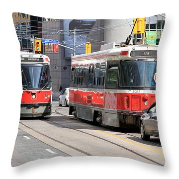 Toronto Street Throw Pillow by Valentino Visentini