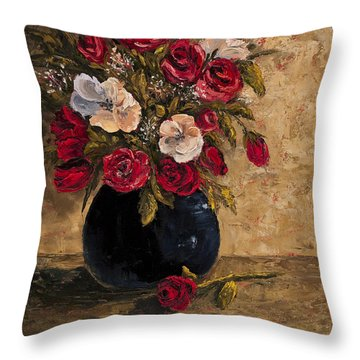 Touch Of Elegance Throw Pillow by Darice Machel McGuire