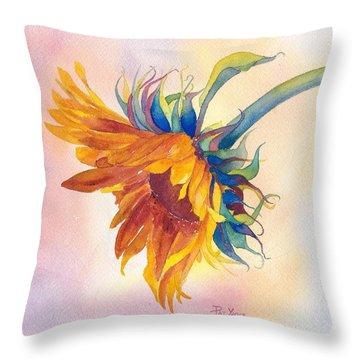 Touch Of Gold Throw Pillow by Pat Yager