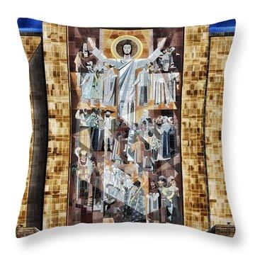 Touchdown Jesus Throw Pillow by Mountain Dreams