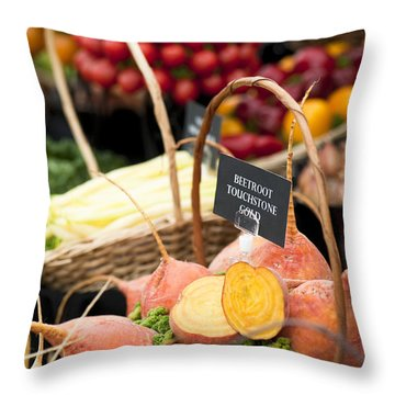 Touchstone Gold Throw Pillow by Anne Gilbert