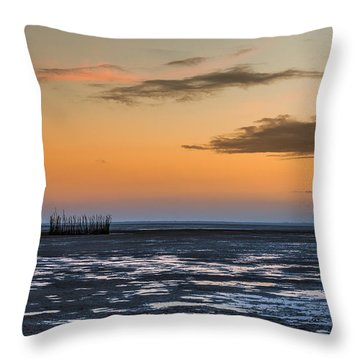 Throw Pillow featuring the photograph Tout Est Silence by Thierry Bouriat