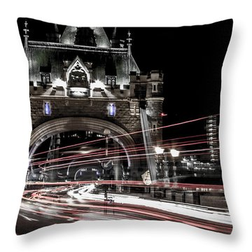 Tower Bridge London Throw Pillow by Martin Newman