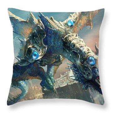 Tower Drake Throw Pillow by Ryan Barger