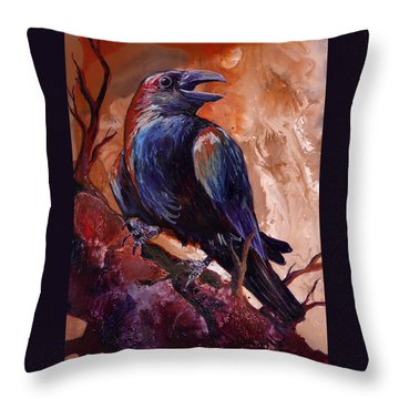 Town Gossip Throw Pillow by Sherry Shipley