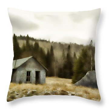 Township Remnants Throw Pillow by Richard Bean