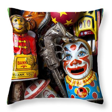Toy Box Throw Pillow by Garry Gay