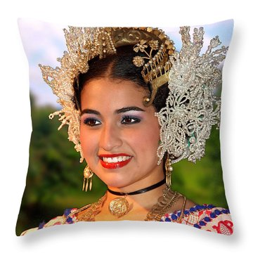 Tradition And Beauty Throw Pillow by Bob Hislop